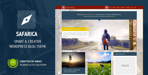 Safarica – Smart And Creative WordPress Blog Theme – WP Theme Download