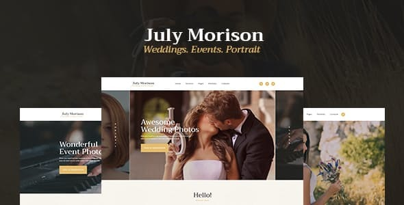 July Morison | An Alluring Occasion Photographer's Portfolio & Weblog WordPress Theme – WP Theme Download
