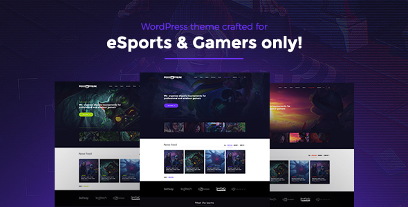 PixieFreak | eSports gaming theme for teams & tournaments – WP Theme Download