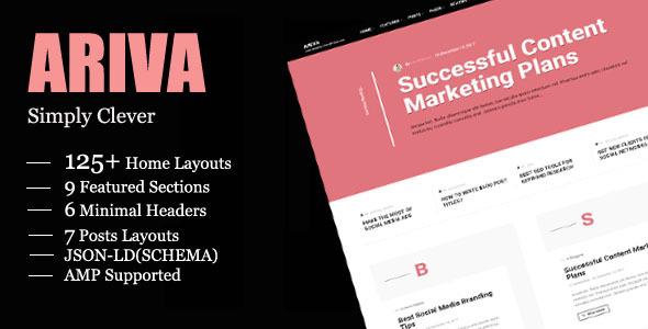 Ariva – Straight forward Text-Basically based mostly WordPress Weblog Theme – WP Theme Download