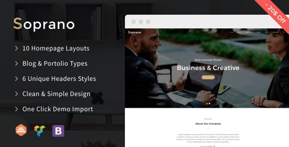 Soprano – Orderly Multi-Knowing WordPress Theme – WP Theme Download