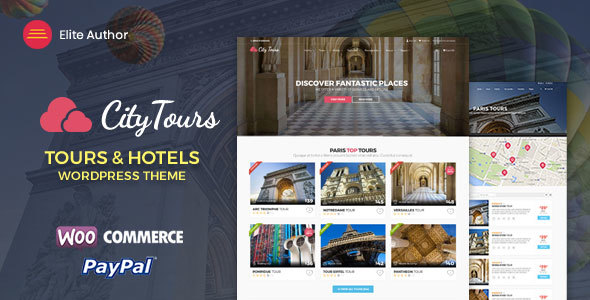 CityTours – Hotel & Tour Booking WordPress Theme – WP Theme Download