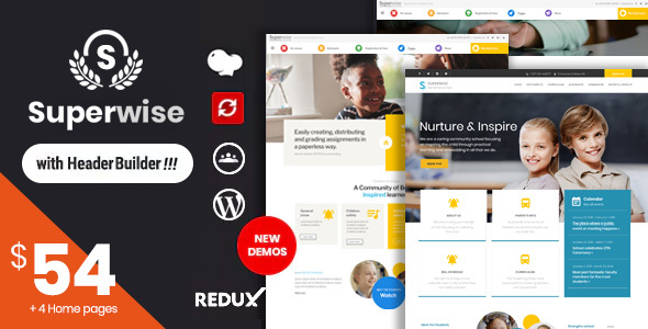 superwise contemporary training and google college room wordpress theme download