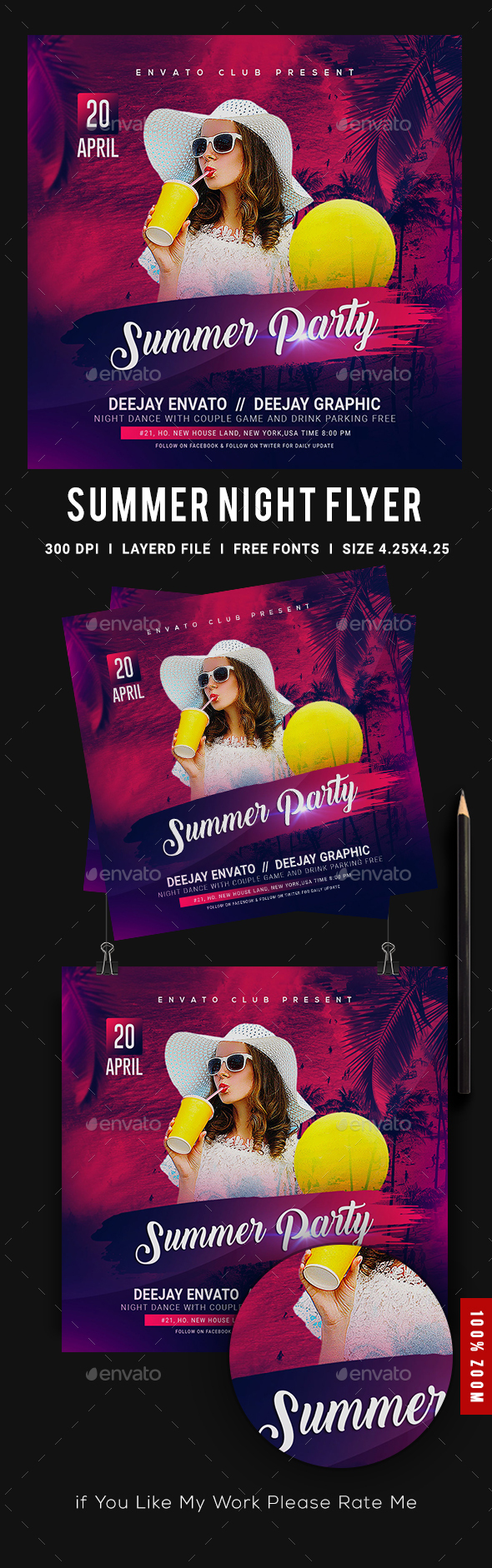 Flyers PSD – Summer season Flyer – Download