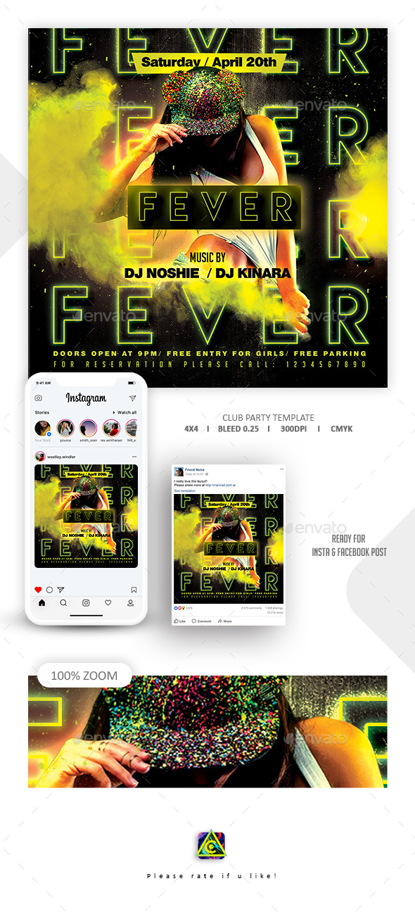 Flyers PSD – Club Occasion Flyer – Download