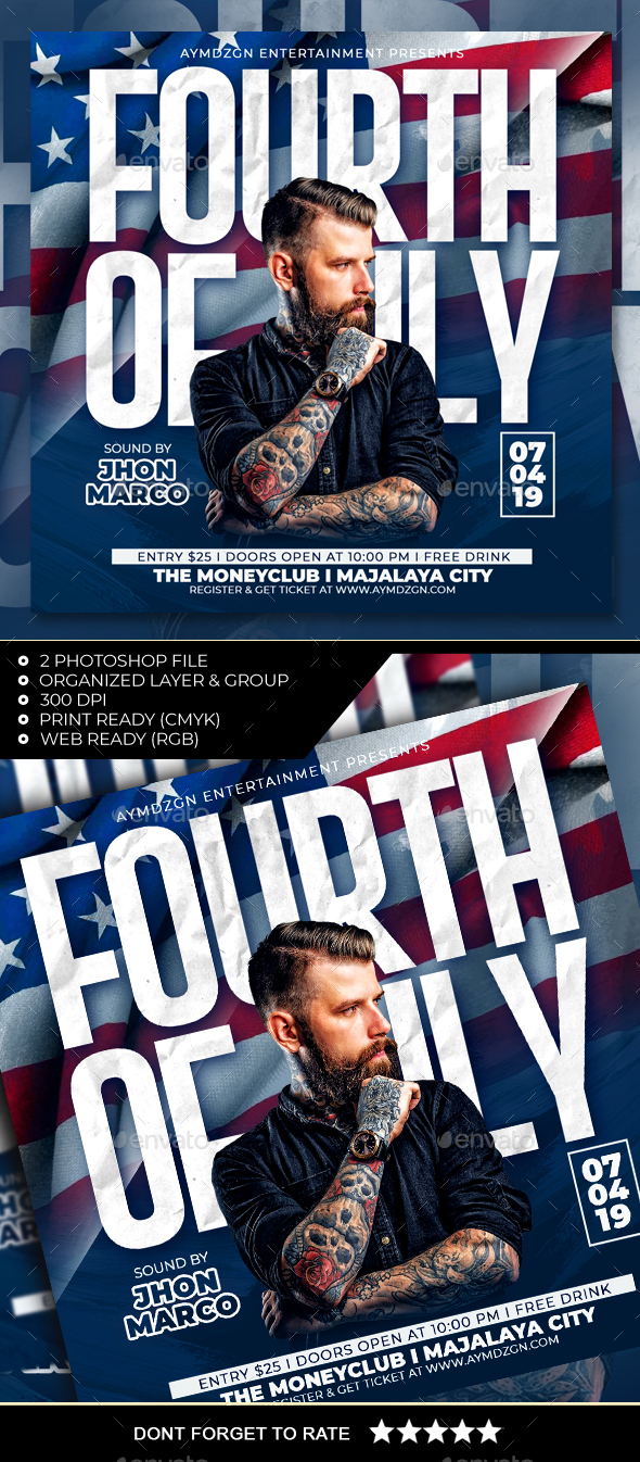 Flyers PSD – Fourth of July Flyer – Download