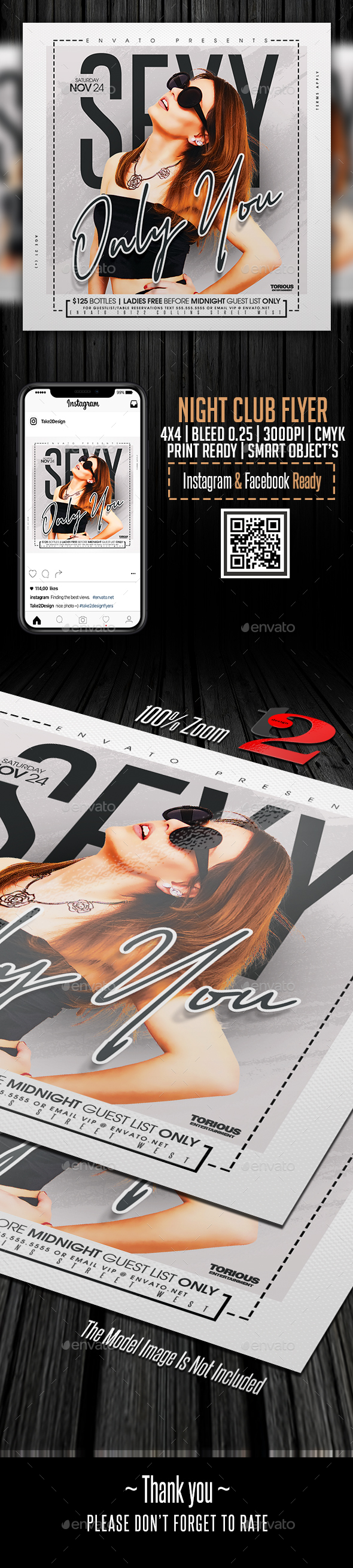 Flyers PSD – Evening Club Flyer Template – Download