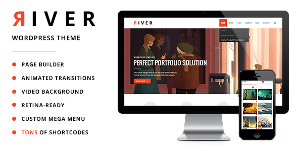 river retina multi aim wordpress theme download