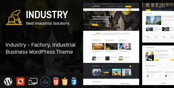 Industry – WordPress Theme for Factory and Industrial Industrial – WP Theme Download