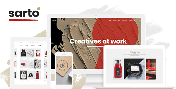 sarto web draw inventive company theme download