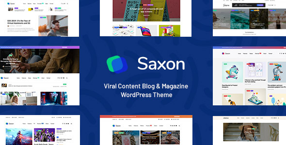 saxon viral bellow material weblog magazine marketing wordpress theme download