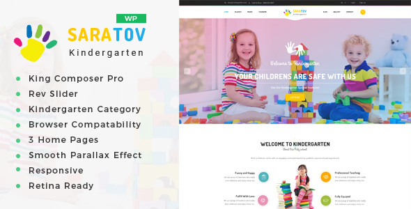 saratov day care kindergarten college wordpress theme download