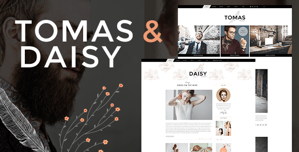 Tomas and Daisy – Personal Blog Theme – WP Theme Download