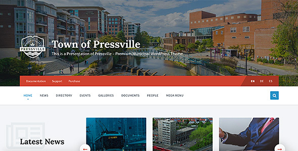 pressville uncommon wordpress theme for municipalities download