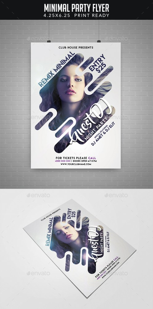 minimal occasion flyer download