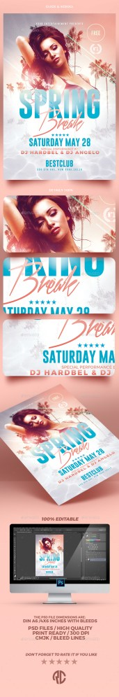 spring ruin psd flyer template download