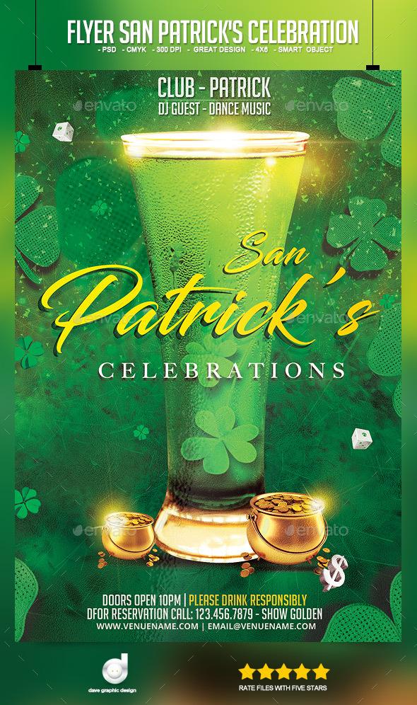flyer san patricks celebration download