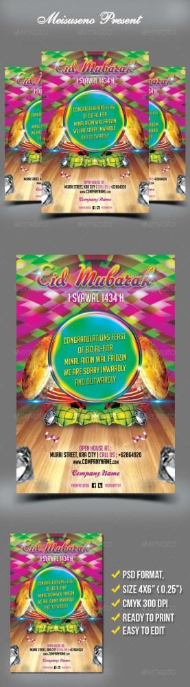 eid mubarak flyer greeting card download