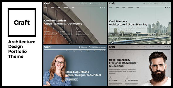 Craft Portfolio – Architecture & Make  – WP Theme Download