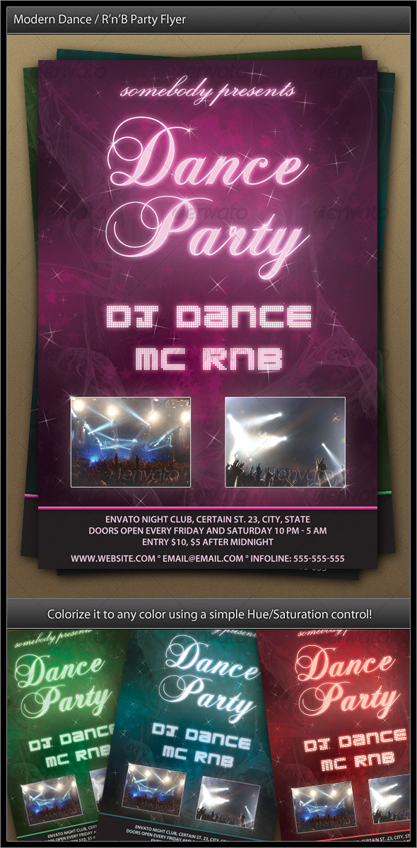 contemporary dance rnb celebration flyer download