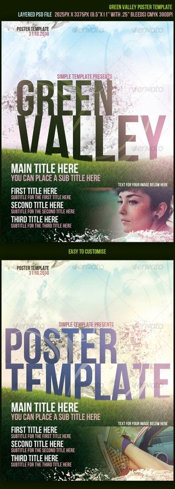 green valley poster template download