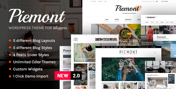 piemont top rate commute each day life responsive wordpress weblog theme download