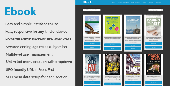 Ebook – Online ebook download and management CMS – Download
