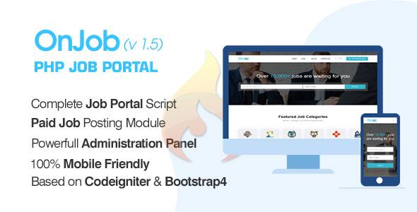 OnJob – PHP Job Portal Utility – Download