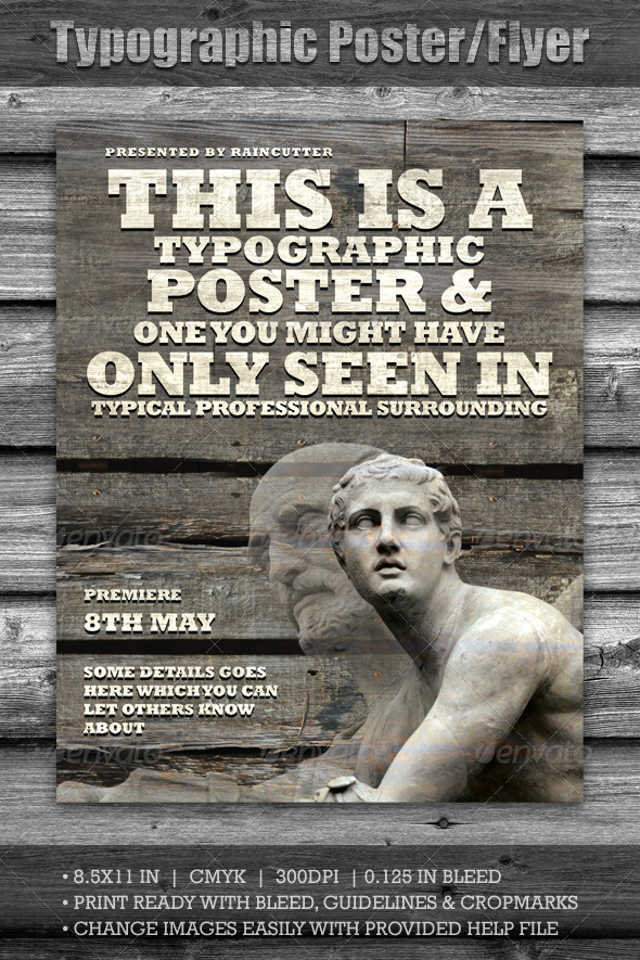 Typographic Poster/Flyer – Download