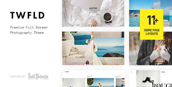 TwoFold – Fullscreen Pictures WordPress Theme – Download