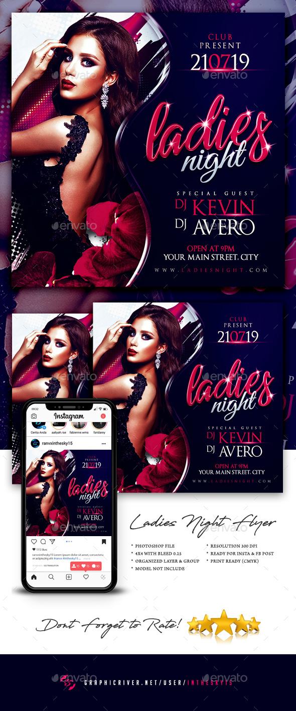 Flyers PSD – Women Evening Flyer – Download