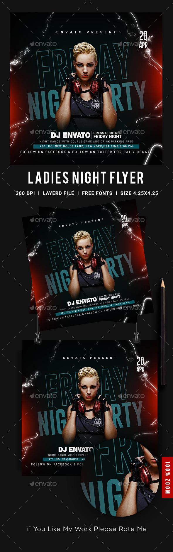 Flyers PSD – Females Evening Club Celebration Flyer – Download
