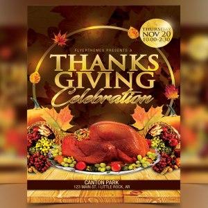 Thanksgiving Celebration Flyer Template