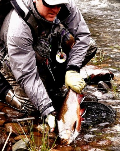 Jay Kennedy with a trophy brook trout