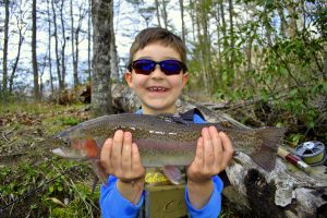 Kids, Fly Fishing Kids,Rainbow Trout, Fly Fishing, Cherokee, Great Smoky Mountains