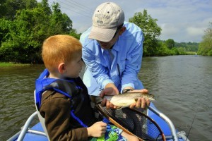 Kids Fly Fishing Great Smoky Mountains Tuckasegee River,