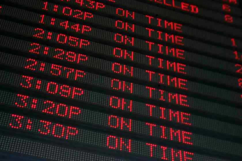 OnTime Flight Schedule Small