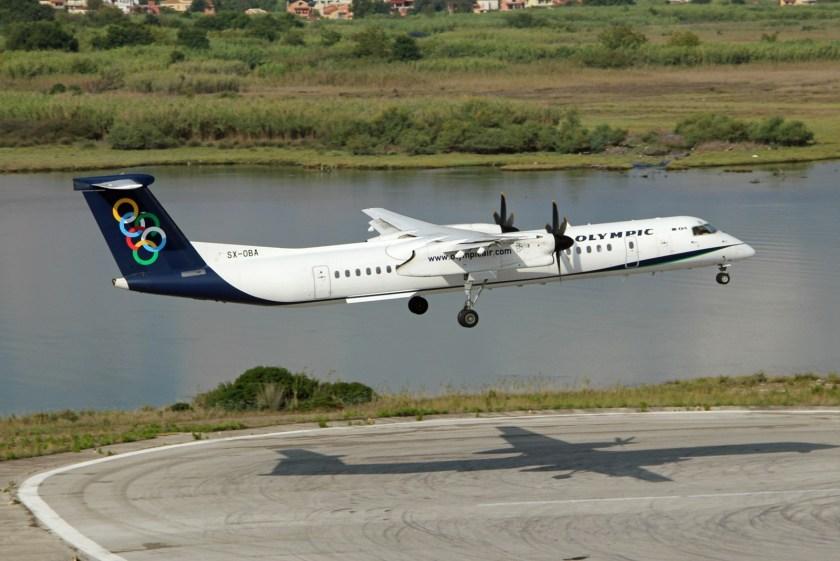 Olympic_Air_Dash_8-Q400_landing_at_Corfu_International_Airport