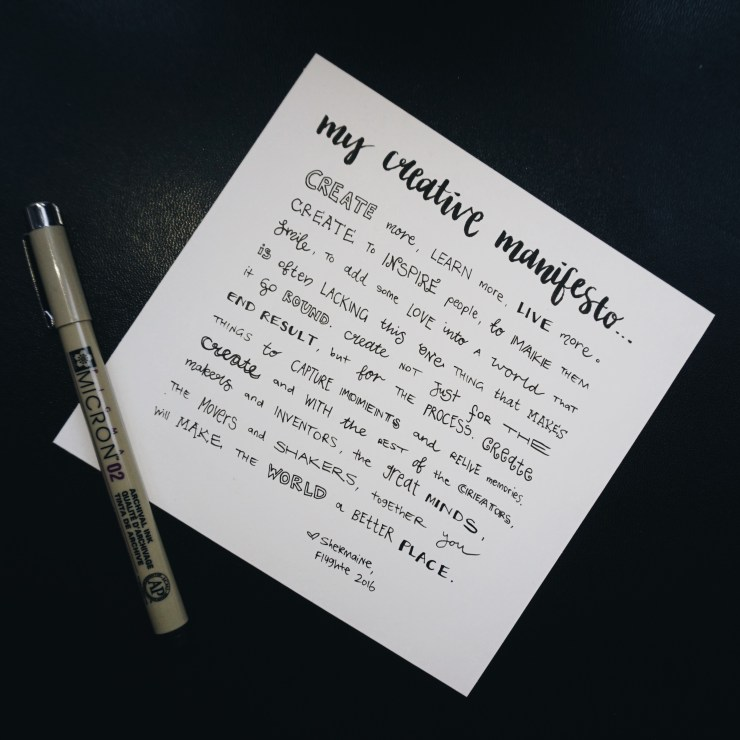My Creative Manifesto