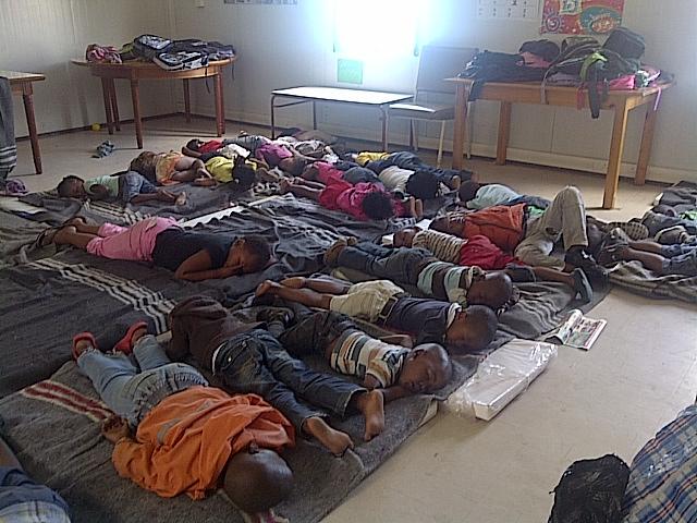 Cape Town-Barn pa daghemmet