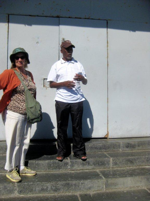 Mandela satt pa Robben Island