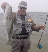 Byron's First Striper On the Fly cape cod