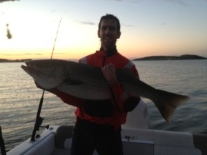 Aaron's 48 inch cow, first ever striped bass