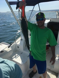 Greg's first striped bass in Boston Harbor