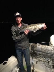 Cape Cod night fishing striped bass