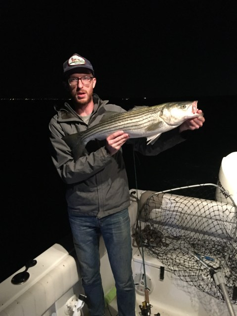 Cape Cod night fishing striped bass