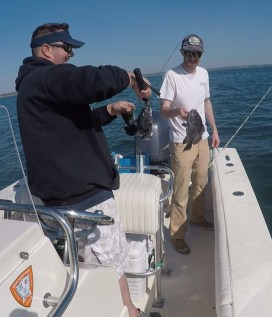 Colin and Craig with Buzzards Bay Black Sea Bass