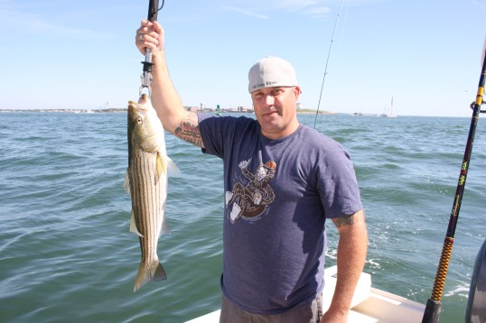 Some keeper sized Stripers in Boston Harbor