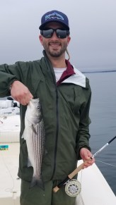 Nick's striped bass on the fly with the Helios H3