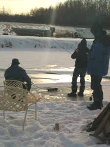 fish & beer on ice - what could be better!